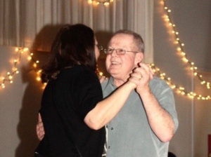 Wayne and I enjoy a dance at the Almond Blossom Ball.