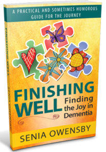 """Finishing Well: Finding the Joy in Dementia"" can be ordered by clicking on the following link: https://www.amazon.com/-/e/B01GAG2ZMS"