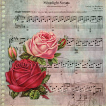 Sheet music and roses CC0 Public Domain